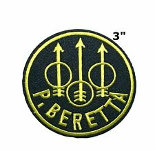P. Beretta Logo Embroidered Iron or Sew-on Patch Morale Tactical