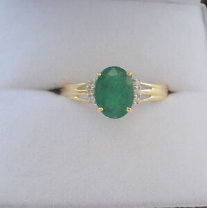 Certified 0.83ct Rare Brazilian Emerald Gold Engagement Ring