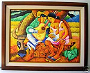 Family 18x24 by Pelayo Art Philippines Oil Painting