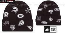 NFL 'NFC TOTAL LOGO' Black Knit Beanie Hats by New Era