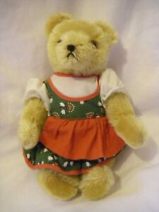"""Hermann Teddy Bear Dirndl Bavarian Style 1980 Fully Jointed Collectible 8"""""""