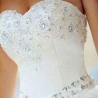 NEW White Ivory Wedding Dress Bridal Gown Stock Size :6-8-10-12-14-16-18
