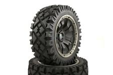 All Terrain Buggy Wheels Black Poison Rims Front Pair 170x60 HPI Baja KM 1/5