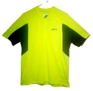 NEW Louis Garneau Mens Connection Relax Short Sleeve Cycling Jersey Yellow Large