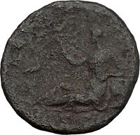 HADRIAN Travels to EGYPT 134AD Sistrum Ibis Authentic Ancient Roman Coin i45569