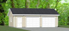 30x20 2-Car Garage -- 600 sqft -- PDF Floor Plan -- Model 2A