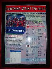 Lancashire Lightning T20 Blast vincitori 2015-incorniciato stampa