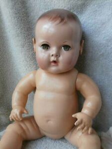 """Vintage Effanbee DY-DEE Baby Doll SUPER NICE Condition Applied Ears 15"""""""