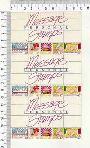 11580t) New Zealand 1998 Cplt Booklets X 3 - Greeting Stamps