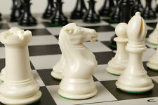 """Fantastic CHESS SET Featuring Game Board + Chess Pieces 4"""" King, 4 lb Set GIFT"""
