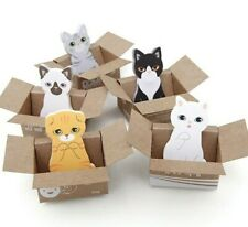 Cute Cat in Box Stationary - Kawaii Memo Pad - 4 Colors [Ships From Usa!]