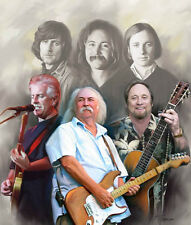 Crosby Stills Nash : giclee print on canvas poster painting   B-0177