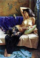 nude chinese thailand japanese asian woman oil painting Canvas beautiful naked