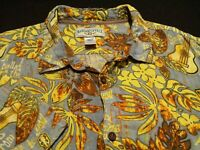 Margaritaville Mens 2XL S/S Button-Front Rayon Multicolor Floral Hawaiian Shirt