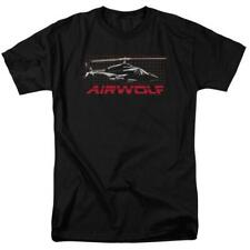 Airwolf helicopter t-shirt retro 80s action TV series adult graphic tee NBC501