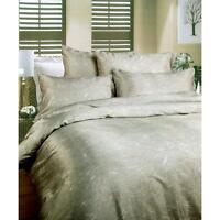 Wild Grey Jacquard DOUBLE Size Quilt Doona Cover Set