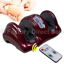 Shiatsu Foot Massager Kneading and Rolling Leg Calf Ankle w/Remote Red Burgu New