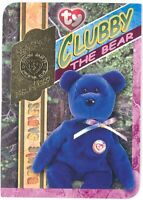 TY Beanie Babies BBOC Card - Series 4 Retired (GOLD) - CLUBBY the Bear - NM/Mint