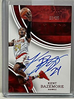 2015-16 PANINI IMMACULATE INK ON CARD AUTO AUTOGRAPH KENT BAZEMORE HAWKS # 22/25