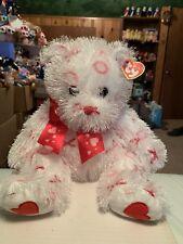 "Ty BITTY KISS -Valentine's Punkies Collection 10"" Plush Bear! *Retired* VHTF!!"