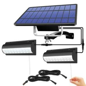 Double Head Solar Pendant LED Light Garden Hanging Shed Lamp Indoor Outdoor