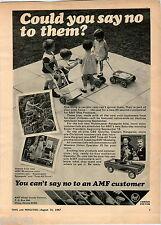 1967 ADVERT AMF Pedal Car Roadmaster Capt Kangaroo HG Toys Texaco Gas Pump Bank