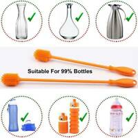 Baby Bottle Long Scrubbing Brush Cleaner w/ Hook For Washing Cleaning Products