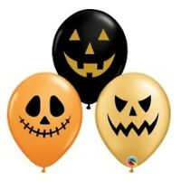 """11""""(28CM) LATEX BALLOON PRINT JACK FACES ASSORTED PACK OF 50 QUALATEX BALLOON..."""