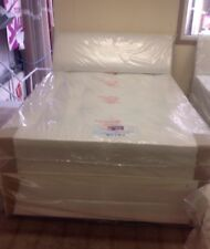 double bed with mattress Headboard And Two Draws