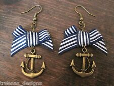 *ANCHOR BOW* Earrings ROCKABILLY SAILOR JERRY NAUTICAL