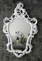 Espejo de Pared Blanco Antiguo Barroco Shabby OVALADO baño 50x76 103039