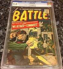 BATTLE #68, 1960 COLD WAR COVER, KIRBY COVER, SEVERIN, DITKO ART, VG/FINE 5.0
