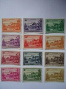 Norfolk Island KGVI 1947-59 SG1-12 1/2d-2/- MNH