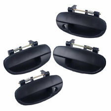 Fit for Daewoo Lanos 98-02 Pair Rear /Front Exterior Outside Door Handle Black