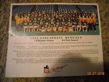 1982 CINCINNATI BENGALS 8X10 TEAM PHOTO OHIO  FOOTBALL NFL