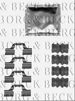 BBK1509 BORG & BECK FITTING KIT for BRAKE PADS fits Toyota Avensis 07/01-02/03