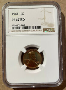 1961 USA One Cent NGC PF 67 RD - Lincoln Memorial