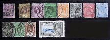 Straits Settlements stamps, 1903-1935, all cancelled