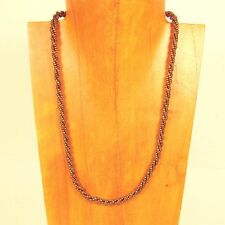 """10PC WHOLESALE LOT 18"""" Gold Bronze Color Handmade Beaded Rope Chain Necklaces"""