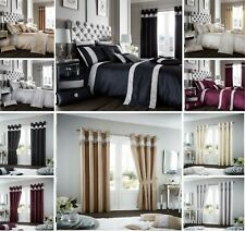 Designer OXY Diamante Duvet Quilt Cover Set Or Matching Curtains Bedding Set GC