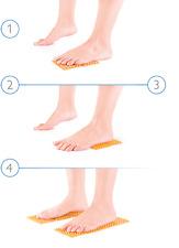 Reflexology massage pads dr. Ivan Garabitov Healing massage on the feet