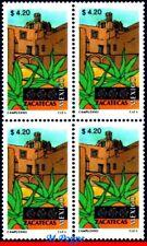 2128 MEXICO 2001 TOURISM ZACATECAS, ARCHEOLOGY, (4.20P), BLOCK MNH