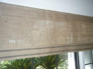 Burlap Natural Cafe Curtains & Valances set of 3