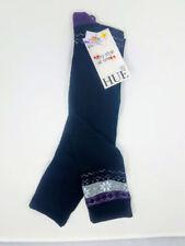 HUE Women's 2 pack Blocked Fair Isle Knee Socks, Black, Casual, One Size
