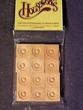 WINDOW CORNER HEAD BLOCKS  miniature dollhouse trim 12pcs  #7064 1/12 scale