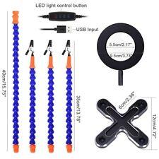 3X Glasses Magnifier Lamp DIY Welding Three Hands 4Pc Flexible Arm Welding W1V3