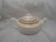 Wedgwood oval shaped Teapot Cornucopia Parchment Pattern 1st Quality.