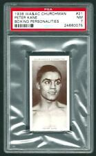 1938 WA & AC CHURCHMAN PETER KANE PSA 7 NM #21 BOXING PERSONALITIES
