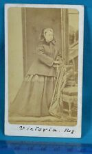 1860s Victorian CDV Photo Carte De Visite Royal HRH Queen Victoria W&D Downey