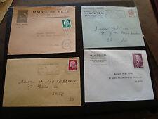 FRANCE - 4 enveloppes (cy57) french